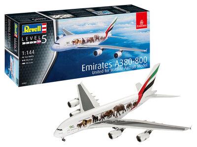 "Revell 03882 Airbus A380-800 Emirates ""Wild Life"" 1:144"