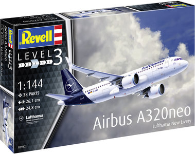 """Revell Airbus A320 Neo Lufthansa """"New Livery"""" 1/144 #03942"""