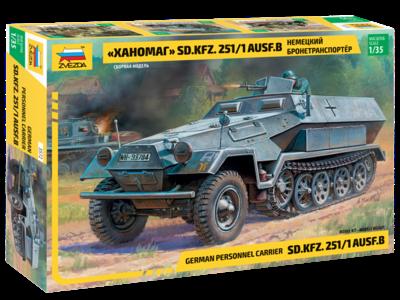 Zvezda 3572 Armored Carrier Hanomag Sd.Kfz.251/1 Ausf.B 1/35