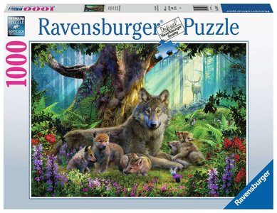 Ravensburger Familie Wolf in het Bos #159871 Puzzel