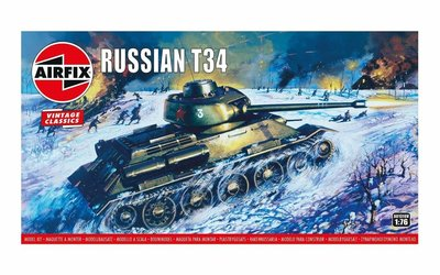 Airfix Russian T34 Medium Tank 1:76 (A01316V)