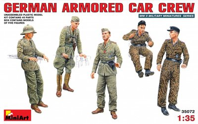 MiniArt German Armored Car Crew 1:35 (35072)