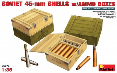 MiniArt Soviet 45-mm Shells with Ammo Boxes 1:35 (35073)