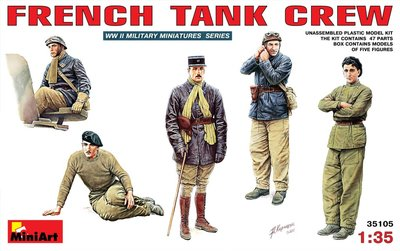 MiniArt French Tank Crew 1:35 (35105)