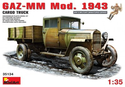 MiniArt GAZ-MM Mod. 1943 Cargo Truck 1:35 (35134)
