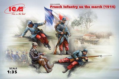 ICM French Infantry on the March 1914 1:35 (35705)