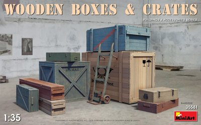 MiniArt Wooden Boxes and Crates 1:35 (35581)