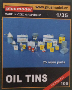 Plus Model Oil Tins 1/35 #106