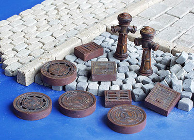 Plus Model Sewer Hatches 1/35 #143