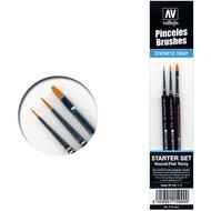 Vallejo Penselen Brushes Starter Set #P15999